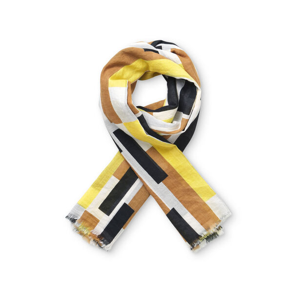 AGNES SCARF, Cream gold, hi-res