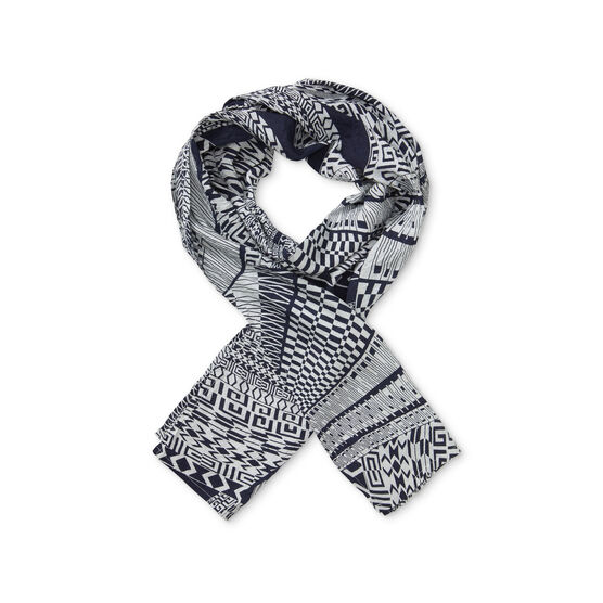 ALONG SCARF, NAVY, hi-res