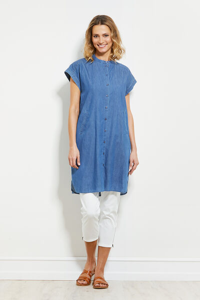 IHSANA BLUS, LIGHT DENIM, hi-res